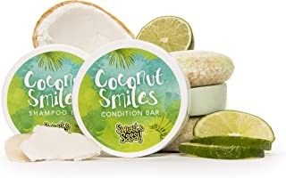 Shampoo & Condition Bars with 2 Travel Cases: Includes 2 Shampoos, 1 Conditioner, 2 Travel Containers. Made in the USA. All Natural, Organic, SLS Free, Eco-Friendly, Safe for Color Treated Hair.