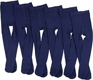Girls' 6 Pack Warm Assorted Acrylic Blend Full Footed Winter Tights