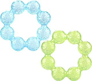 Nuby Pur Ice Bite Soother Ring Teether, 2 Count - Blue/Green