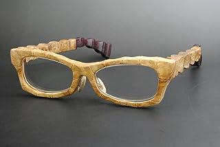 木製めがねフレーム TA-905F(DOKUSOU TIKUHOU)【ルーツ】【鯖江産】【木のめがね】【タモ】【バーズアイメイプル】【パープルハート】【銘木】【日本製】