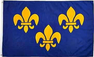 flag with three fleur de lis