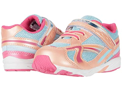Tsukihoshi Kids B. Glitz (Toddler) (Peach/Sky) Girls Shoes