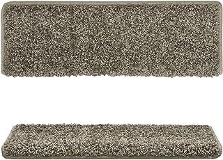 Bulufree Familia de materiales de polipropileno gris juego de alfombrilla de escalera práctica de 15 piezas, alfombra de e...