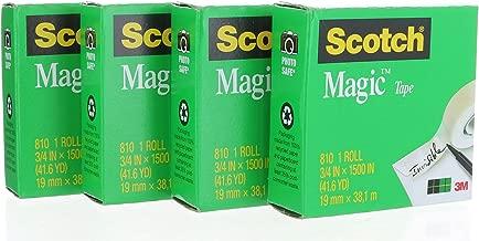 شريط سوتش ماجيك 810 قابل لإعادة التعبئة (3/4 بوصة X 1500 بوصة) 4 أسطوانة