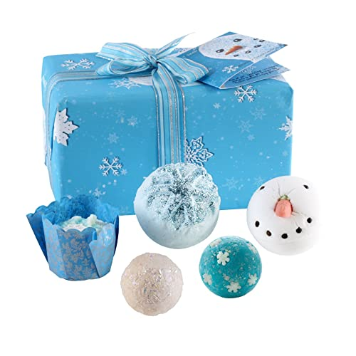 Bomb Cosmetics Let It Snow Handmade Wrapped Gift Pack  Contains 5-Pieces  0410d6561