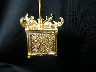 Heidi Ott Dollhouse Miniature 1:12 Scale Light Oriental Hanging Lamp Gold #YL5050-GO