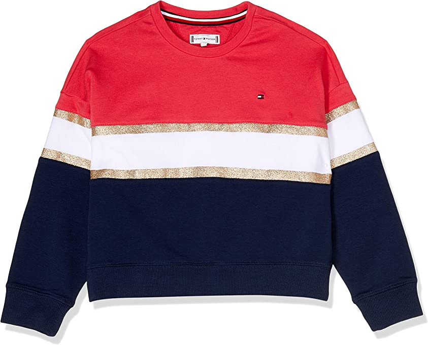 Tommy Hilfiger Kids Glitter Stripe Sweatshirt
