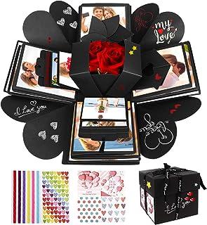 WisFox Boite Surprise, Cadeau Surprise Mémoire d'amour Faite Main de Bricolage Créatif de Cadeau d'Explosion de Surprise, ...