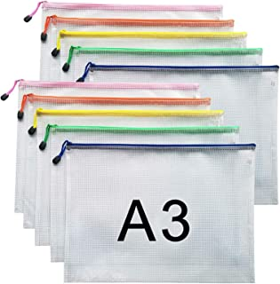 Sponsored Ad – A3 Document Folder File Zipper Bags Plastic Wallets Folder (A3-10PCS)