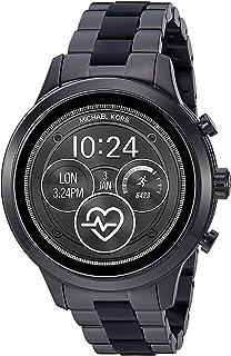 Michael Kors Access Womens Runway Touchscreen Smartwatch Stainless Steel Bracelet watch, Black, MKT5058