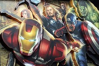 The Avengers Marvel Universe Comics Super Heroes 3D Pop Shadow Box Art Iron Man Black Widow Thor Captain America Hulk Clint Barton Stan Lee Strips Fans Gift Present