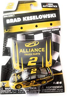 NASCAR Authentics Brad Keselowski #2 Diecast Car 1/64 Scale - 2018 Wave 7 with Free Hood - Collectible