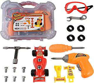 Kids Tool Set with Take Apart Car - 24 Piece Kids Mechanic Tool Set, Carry Case and Take Apart Toy Car for Ages 3-6 - Toy Tools for Learning and Improving Motor Skills - STEM Toys for 4 Year Olds