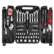 MVPOWER 95 Piece Home Mechanics Repair Tool Kit,General Household Hand Tool Set Wrench Set with...