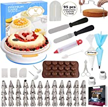 95 pcs Cake Decorating Supplies Kit by Cake Decorating District - Includes 48 Icing Tips - Silicone Pastry Bag and Disposa...