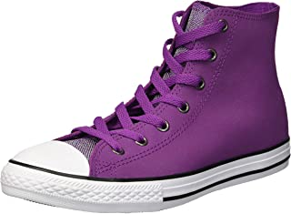 Converse Kids' Chuck Taylor All Star Glitter Leather High Top Sneaker