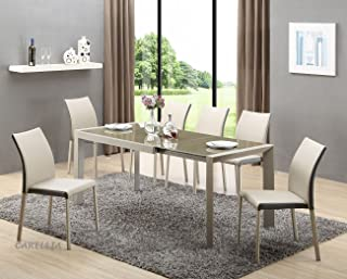 CARELLIA Table A Manger RECTANGULAIRE Extensible 122÷182 CM x 82 CM x 76 CM