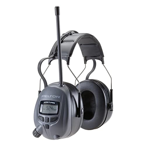3M Peltor WorkTunes Digital Hearing Protector, MP3 Compatible with AM/FM Tuner
