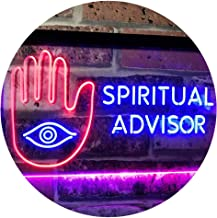 Spiritual Advisor Eye Dual Color LED Neon Sign Blue & Red 400 x 300mm st6s43-i3116-br
