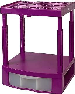 Tools for School Locker Organizer - Double Drawer with Height Adjustable Shelf (Magenta)