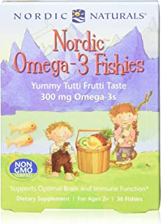 Nordic Naturals Nordic Omega-3 Fishies, Tutti Frutti - 36 Fishies, Pack of 2 - 300 mg Total Omega-3s with EPA & DHA - Heal...