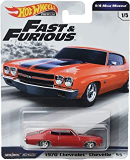 Hot Wheels 1/4 Mile Muscle 1970 Chevrolet Chevelle SS 1/5, red