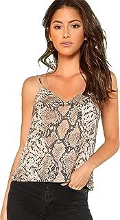 Women's Animal Snake Skin Graphic Print Cami Top