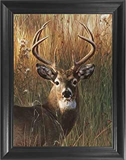 Deer Antler Portrait 3D Poster Wall Art Decor Framed Print | 14.5×18.5 | Lenticular..