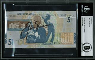 Jack Nicklaus Signed The Royal Bank Of Scotland 5 Pound Note BAS Slabbed - Beckett Authentication - Golf Cut Signatures
