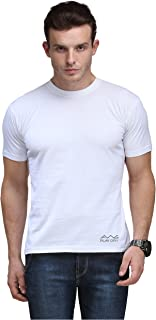 AWG Men's Jersey Round Neck White Dryfit Polyester T-Shirt