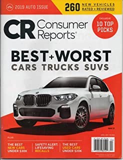 Consumer Reports 10 Top Picks of 2019: Best Cars of the Year April 2019 Cars Trucks SUV's