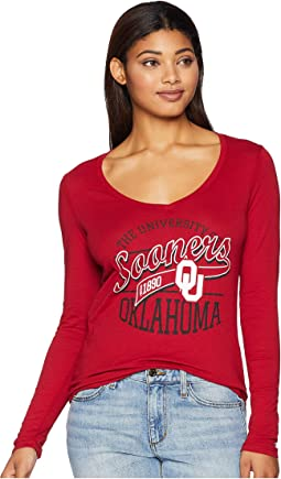 Oklahoma Sooners Long Sleeve V-Neck Tee