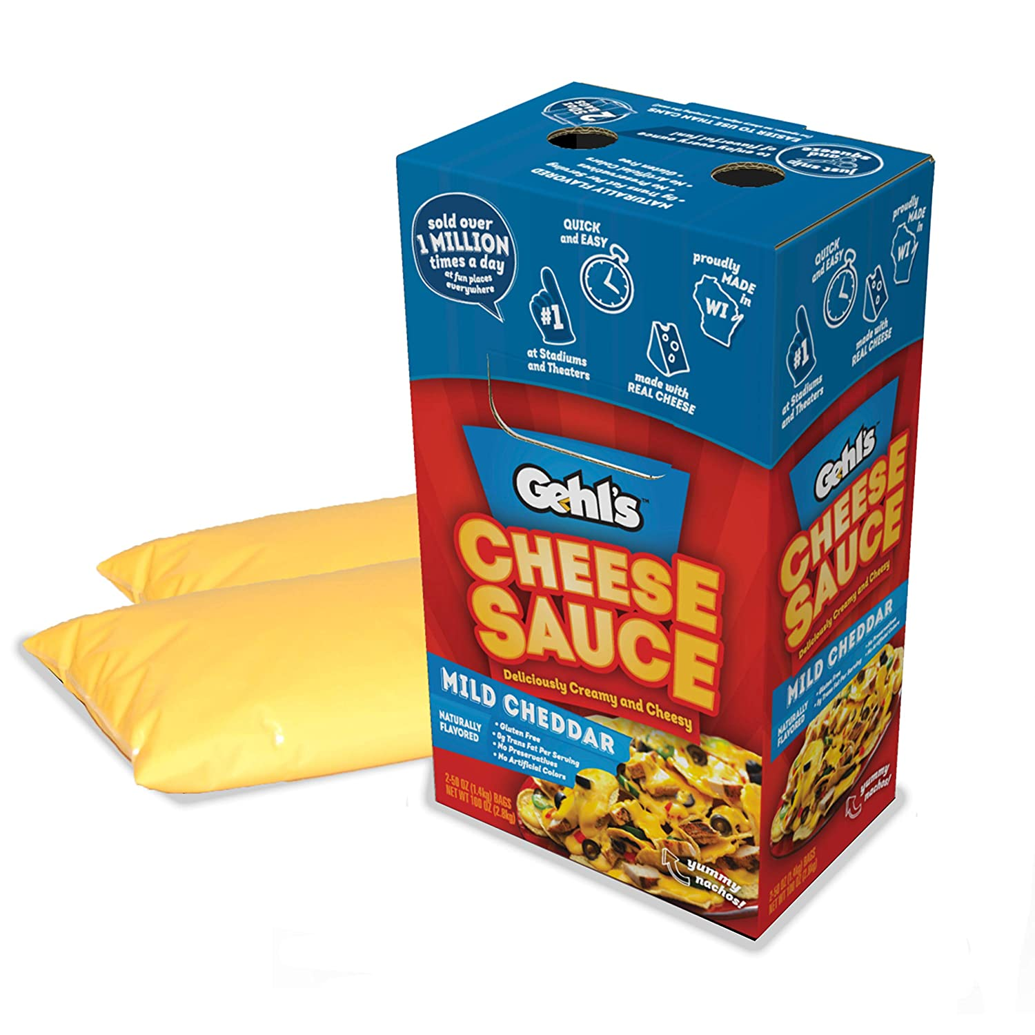 Quality inspection Gehl's 5 popular Mild Cheddar Cheese Sauce Queso Nacho Bulk –