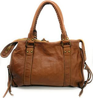 OH MY BAG Sac à main Cuir porté main épaule bandoulière et de travers Femmes en véritable cuir fabriqué en Italie - modèle...