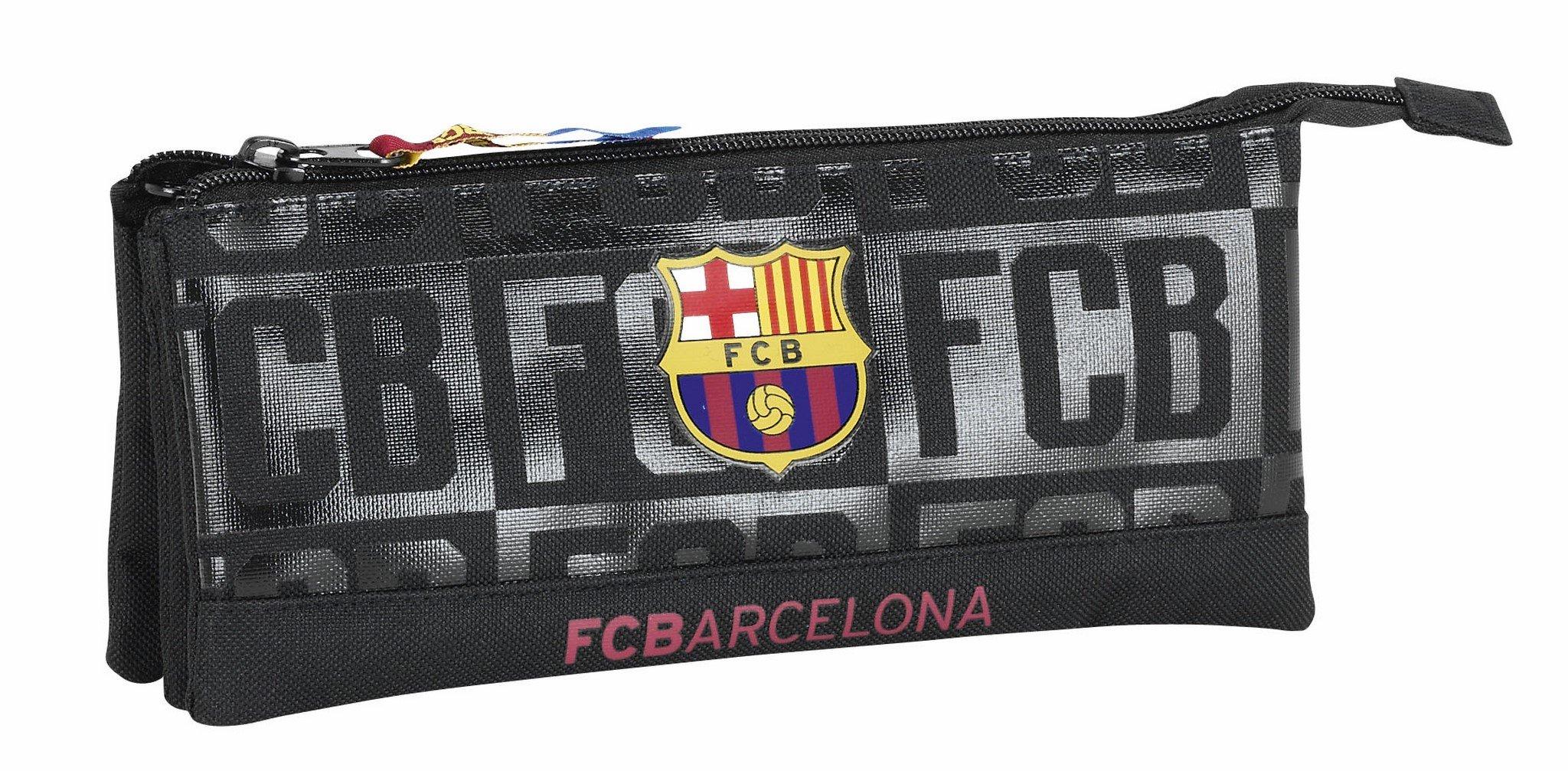 Futbol Club Barcelona-FC Barcelona Estuche portatodo Triple Color Negro, 22 cm (SAFTA 811725744): Amazon.es: Juguetes y juegos