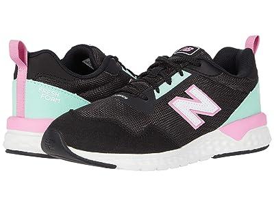 New Balance Kids 515 Sport (Little Kid/Big Kid) (Black/Candy Pink) Girls Shoes
