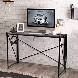 Nova Furniture Group Folding Home Office Computer Desk, Portable multifunction Study Writing Laptop Table For Urban Small Space Apartment, Condo & Dorm, Space Saving, Waterproof desktop, Easy Assemble