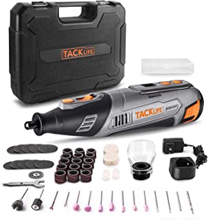 TACKLIFE 12V Cordless Rotary Tool, LCD Display with Accurate Speed Control, Ideal for Cutting,...