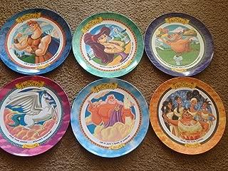 6 McDonald's Disney's Hercules Collectors Plate Set - Pegasus, Hercules, The Muses, Zeus, Phil & Mergara