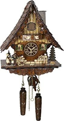 Trenkle Quartz Cuckoo Clock Black Forest House with Music TU 4273 QM HZZG