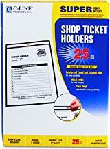 C-Line Stitched Shop Ticket Holders, Both Sides Clear, 9 x 12 Inches, 25 per Box (46912)