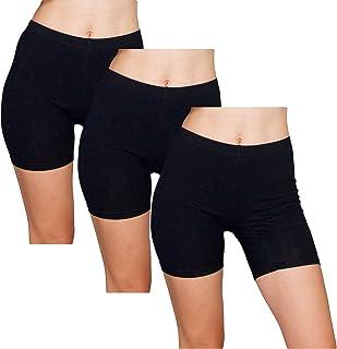 Emprella Slip Shorts | 3-Pack Black Bike Shorts | Cotton...