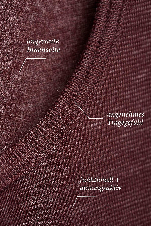 Con-ta T-shirt thermique /à manches longues en coton naturel pour femme Col rond