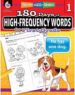 180 Days of High-Frequency Words for First Grade - Learn to Read First Grade Workbook - Improves Sight Words Recognition and Reading Comprehension for Grade 1, Ages 5 to 7 (180 Days of Practice)