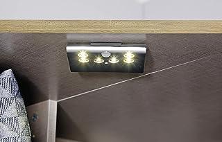 Rauch Möbel Buchholz Armoire verrouillable en Bois de hêtre avec éclairage intérieur, 11 x 23 x 1,6 cm