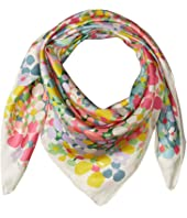 Kate Spade New York - Floral Dots Silk Square Scarf