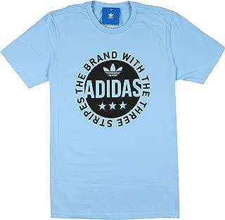 Men's Circle Star Logo T-Shirt Small Clear Blue Black