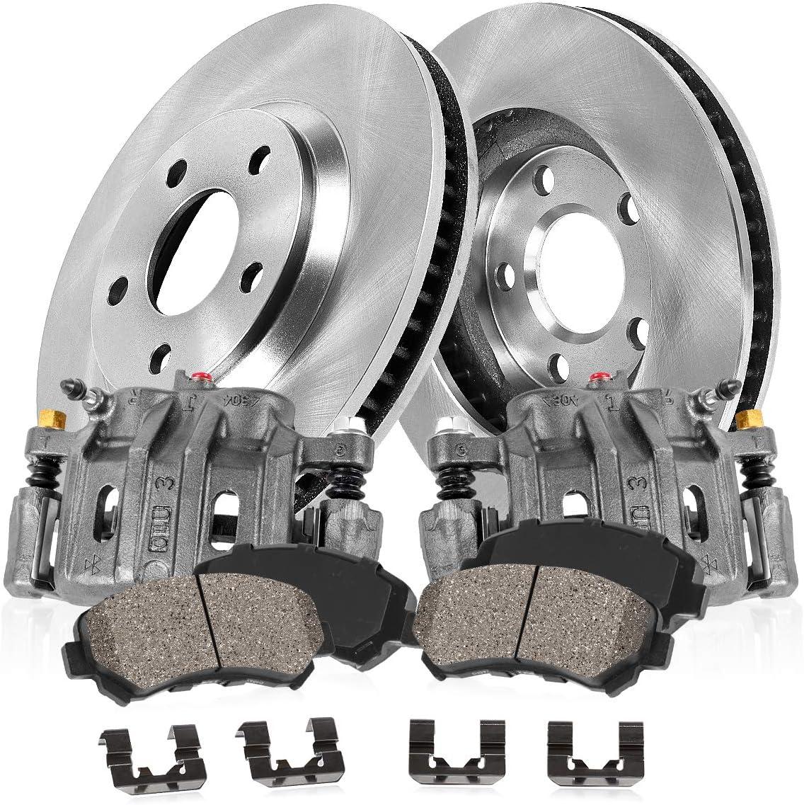 Callahan CCK07282 2 FRONT OEM Cheap bargain Choice Brake Rotors Cer OE + Calipers