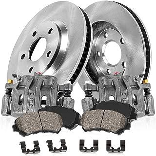 CCK02087 FRONT Original [2] Calipers + [2] OE Rotors + Low Dust [4] Ceramic Pads Kit