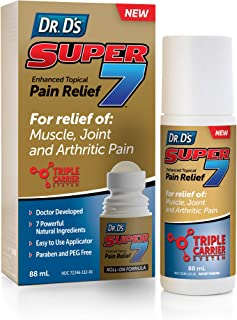 Dr. D's Super 7 Enhanced Topical Pain Relief - Deep & Fast Acting Natural Pain Relief Roll-On for Arthritis, Muscle, Joint...